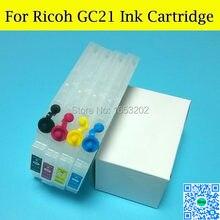 Cartouche d'encre rechargeable chine pour imprimante Ricoh GC21, avec puce ARC, pour modèles GX7000 GX5000 GX3000 GX2500 GX2050 GX3050