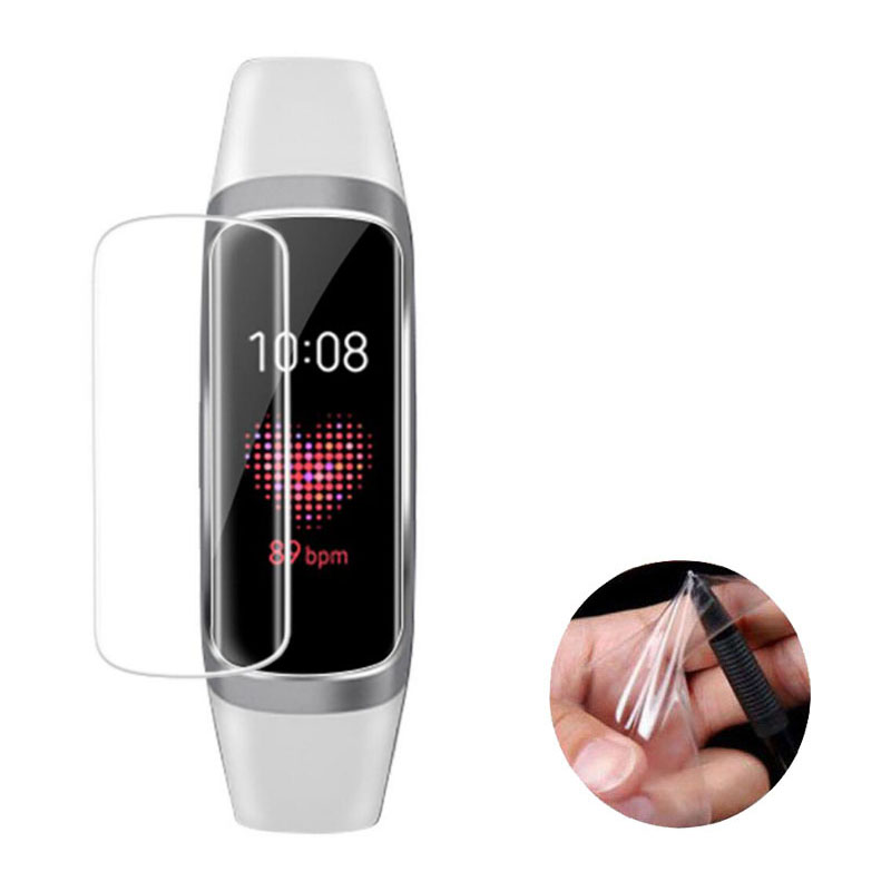 2pcs TPU Soft Full Protective For Samsung Watch Galaxy Fit R370/ Fit-e R375  Film Smart Wristband Screen Protector Cover