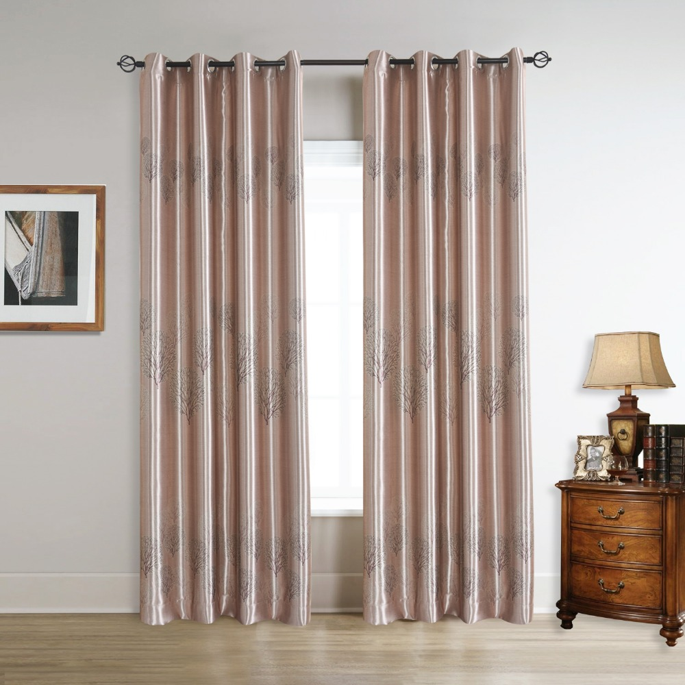 Light pink curtains - Floral Blackout Elegent Pink Flower Curtains Panels With Grommet 52wx63l 52wx84l 52wx96l Inch For Living Room Set Of 2