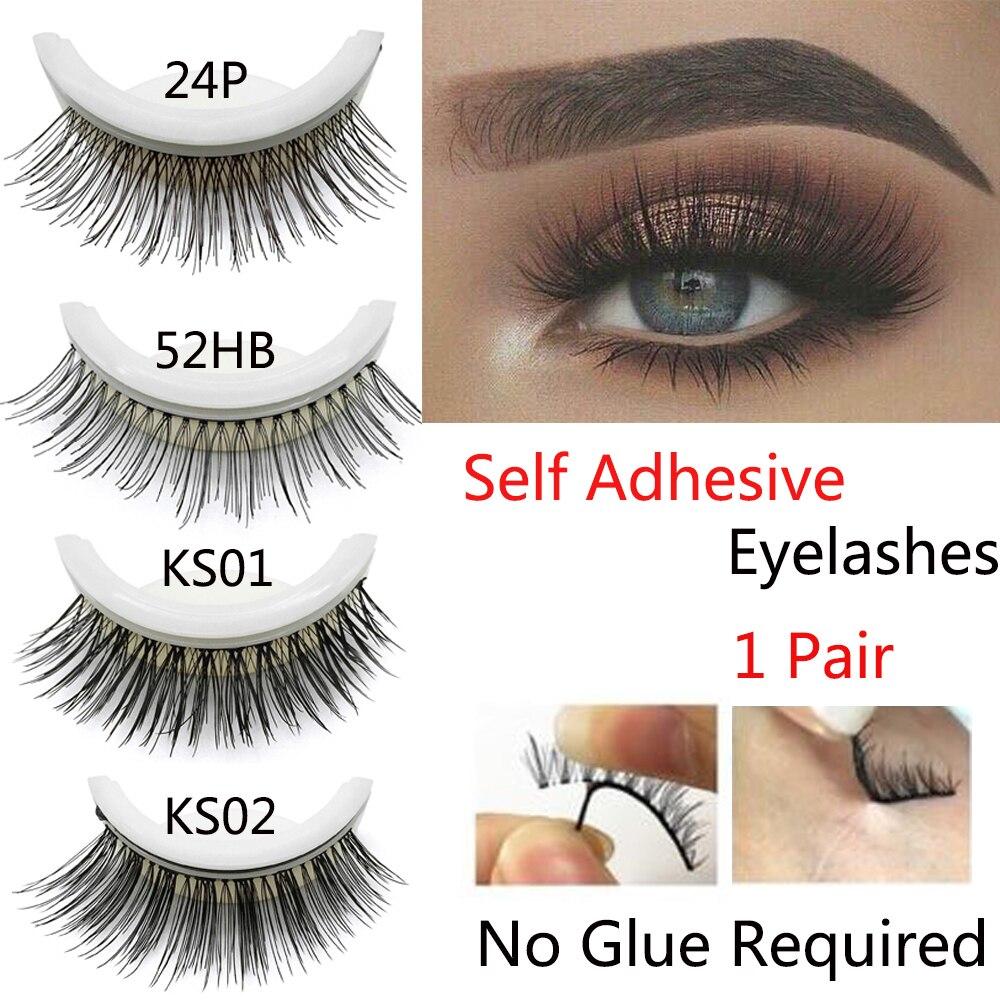 c5b455b5f46 3D Faux Mink False Eyelashes Natural Curly No glue Self-adhesive Fake  Eyelashes Make-up Eye Lashes Extension Tools Reusable