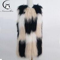 Кожаная травяная куртка пальто из лисьего меха 100% мех енота Плетеный жилет из натурального меха енота вязаный жилет пальто из натурального
