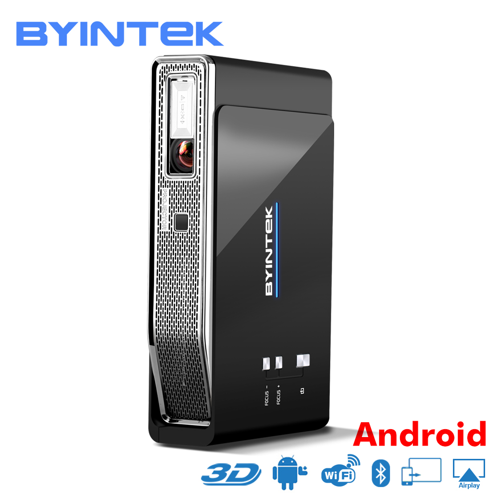 BYINTEK UFO R15 Smart Android WIFI Video Home Theater LED Portable lAsEr USB Mini HD DLP 3D Projector for Full HD 1080P HDMI 4K