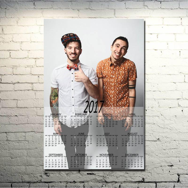 2017 Calendario Poster Art Silk Poster 13x20 24x36 inch Music Picture ...