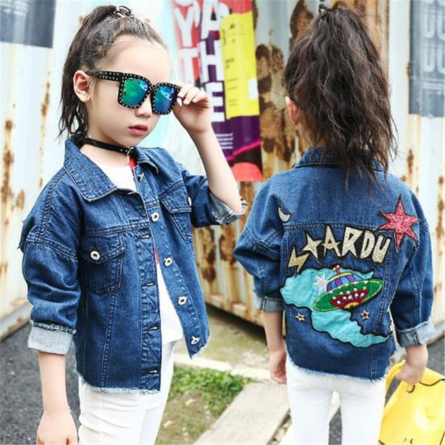 Kids Girls Denim Jacket Children Girls Jackets Coats Autumn Spring