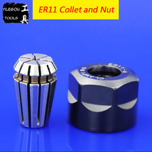 High Precision CNC ER11 Spring Collet with Nut ER11 (1 to 7mm) Chuck and Nut (M14*0.75) For CNC Milling Lathe Machine Tools