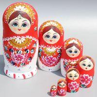 7 יד צבע יח'\סט פרקט רוסית קינון בובות בובות קינון סט Creative מסיבת חתונת קישוט בבושקה בובות קינון בובות צעצועים