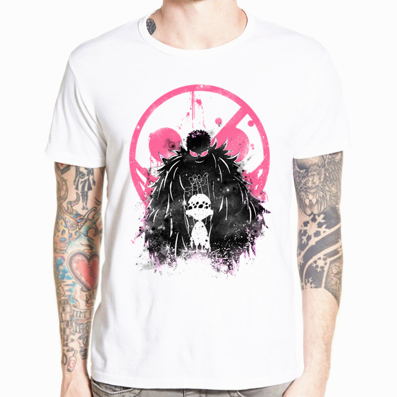 Asian Size Men Women Japanese Anime One Piece Luffy Ace Sabo Law Zoro And Nami   T  -  shirt   O-Neck Short Sleeves Tshirt HCP4477