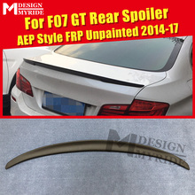 F07 Spoiler rear lip wings FRP Unpainted AEP Style Fits For GT 535i 550i 535iGT 550GT trunk 14-17