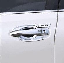 ABS хромированный автомобильный Стайлинг Дверная ручка Крышка дверная ручка Накладка автомобильные аксессуары подходят для Nissan X-trail T32 2014-2017 2018 2019