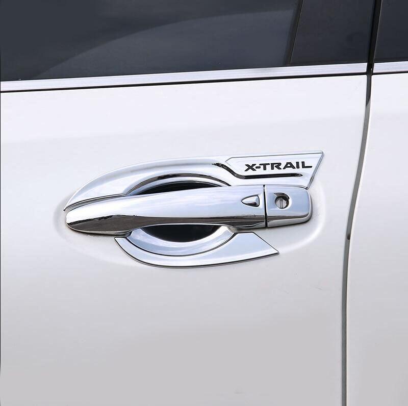 Estilo Do Carro ABS Chrome Capa Maçaneta da porta Maçaneta Da Porta Alça Tigela Guarnição Acessórios Do Carro Apto Para Nissan X trail-T32 2014-2017 2018 2019