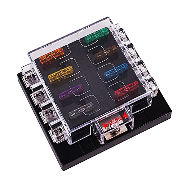 Universal 8 Way Circuit Automotive Blade Fuse Box Block Holder Car Boat Marine vehicle automotive blade fuse holder with a line of high quality waterproof fuse holder