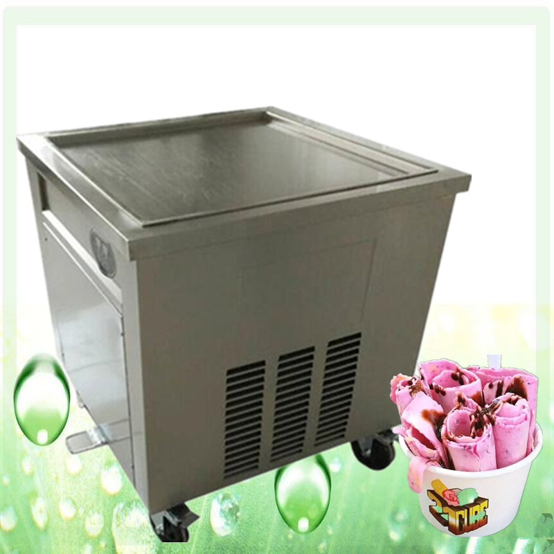 freight free CE fried ice cream roll machine, Thailand fried ice roll pan machine,single square pan ice pan machine