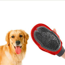 Pet supplies gloves on both sides with cat and dog bath massage gloves brush pet cleaning hair care tools(China)