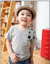Kids Korean star pattern cotton T-shirt Children's short-sleeved Kids Clothing Tees for summer