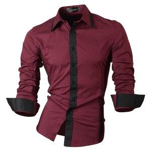 Image 5 - Jeansian אביב סתיו תכונות חולצות גברים מקרית ג ינס חולצה הגעה חדשה ארוך שרוול מקרית Slim Fit זכר חולצות 8015