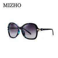 Fashion Vintage BLUE Pattern Gradient Sunglasses Women Polarized With BOX High Quality Anti Glare Polaroid Glasses