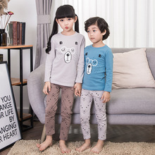 New Cotton Children's Underwear Set Spring Clothing Children Long Johns Baby Clothes Cotton Sweater Pajamas Autumn Set Suits Kid new marenity clothing sleep clothes set pregant underwear women pajamas cotton sets spring summer nursing intimates j9203