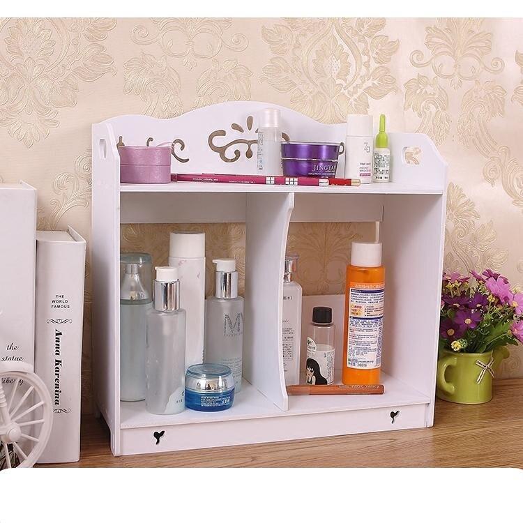 DIY desktop skin care products storage b