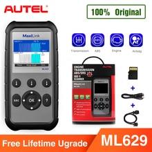 Autel ml629 maxi link leitor de código ferramenta de diagnóstico automático obd2 scanner abs airbag leitor de código atualização autel ml619 al619