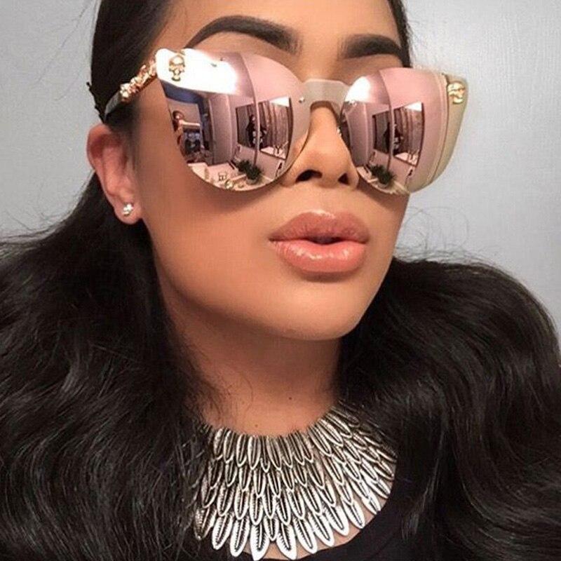 RFOLVE Mode Schädel Brillen Rahmen Schild Sonnenbrille Frauen Männer ...