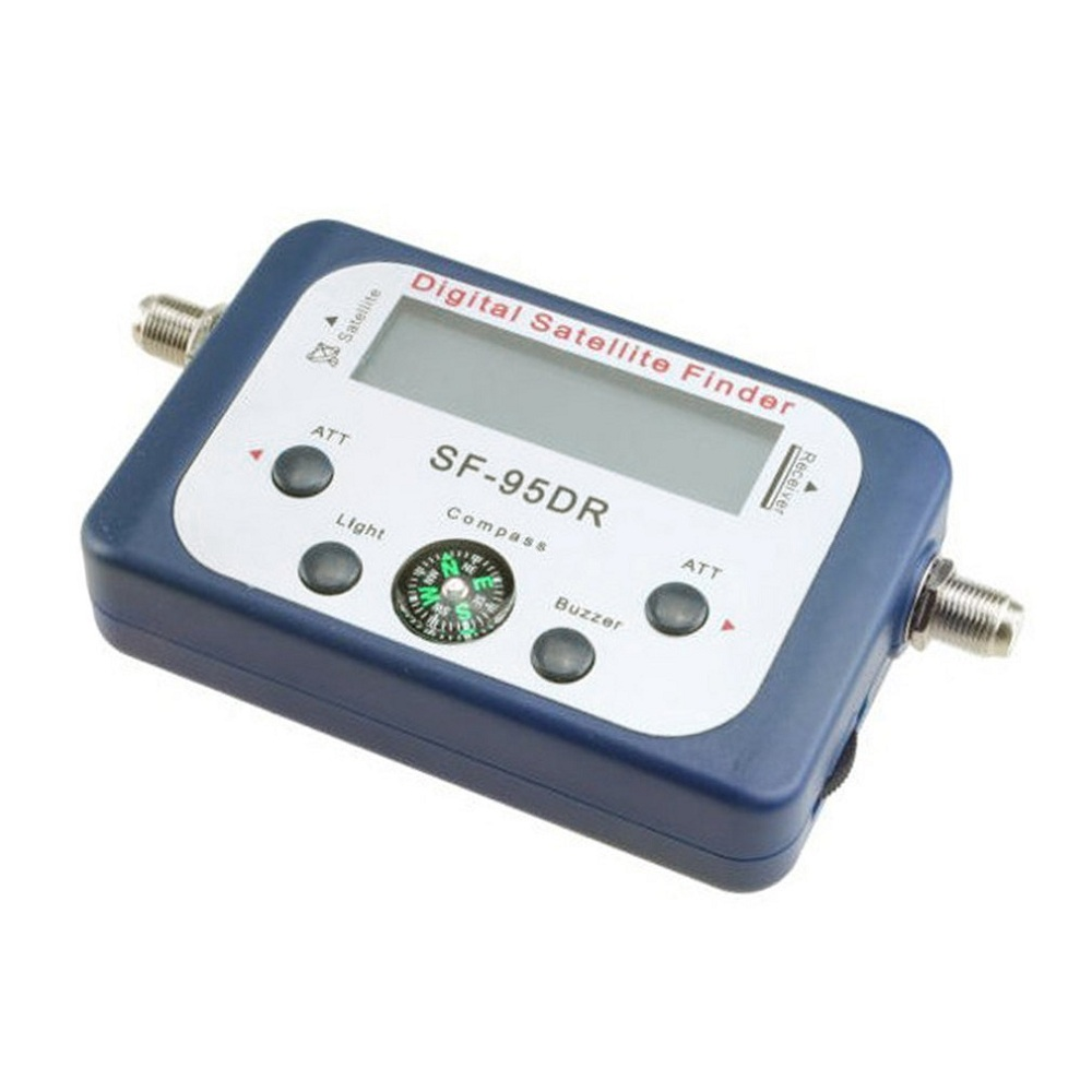 Digital Satellite Finder SF 95DR Signal Meter Satlink Receptor TV Receiver Sat Decoder Satfinder Compass LCD FTA Dish Buzzer in Satellite TV Receiver from Consumer Electronics