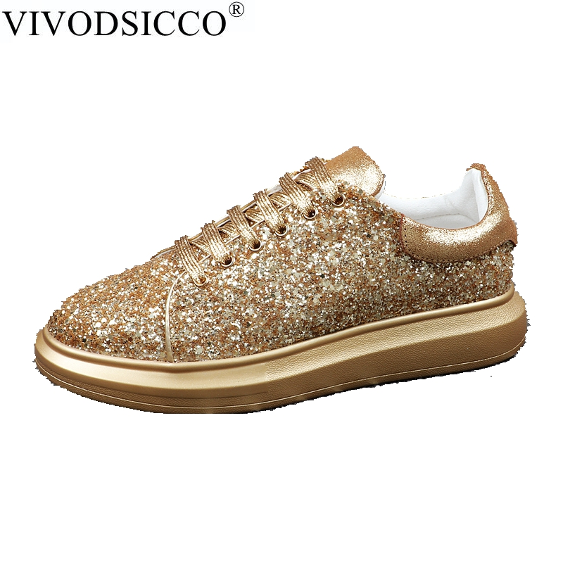 VIVODSICCO Luxury Design Men Sequins Wedding Party Shoes Fashion Spikes Men Loafers Casual Dress Shoes Men Flats Smoking Slipper mabaiwan fashion men shoes handcrafted embroidery flowers designs loafers smoking slipper wedding dress shoes men party flats