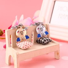 Milesi – 2017 Brand Cute Chickabiddy Cartoon Chicken Key chain Keychain Rings for Men Women Novelty Gift innovative Trinket