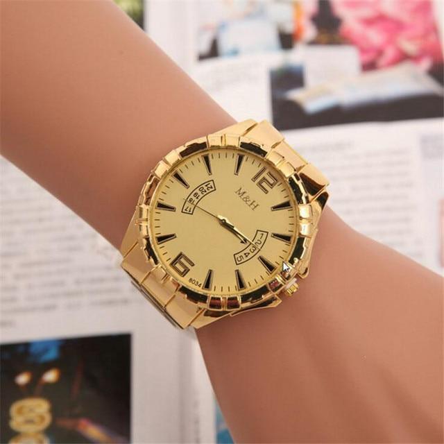 74c207577 Male Gold Simple Quartz Watch Relogios Femininos De Marca Famosa Relojes  Mujer 2018 Bayan Saat Ladies Watch Clock Orologi 271