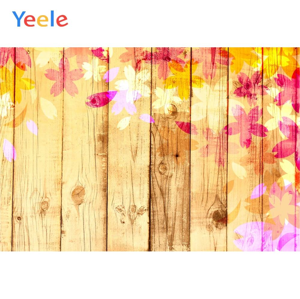 Yeele Simple Crude Vertical Wooden Bright Flowers Photography Backdrops Personalized Photographic Backgrounds For Photo Studio in Background from Consumer Electronics