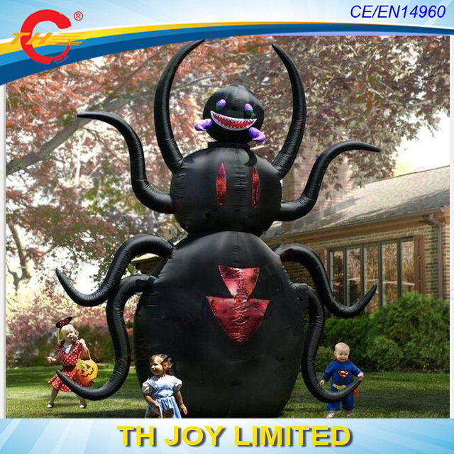new designed scary giant halloween inflatables front yard decoration huge inflatable spider