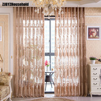 Tulle sheer The New European Classical Jacquard Window Screening Curtains for Living Dining Room Bedroom