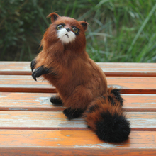 Popular Home And Garden Decoration 19CM Long Handmade Artificial Racoon For Sale