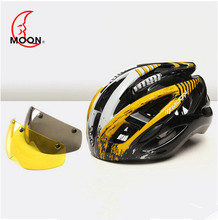 2018 MOON MV88 lens helmet Cycling Helmet Ultralight Breathable Bicycle Helmet For Climbing MTB glass helmet