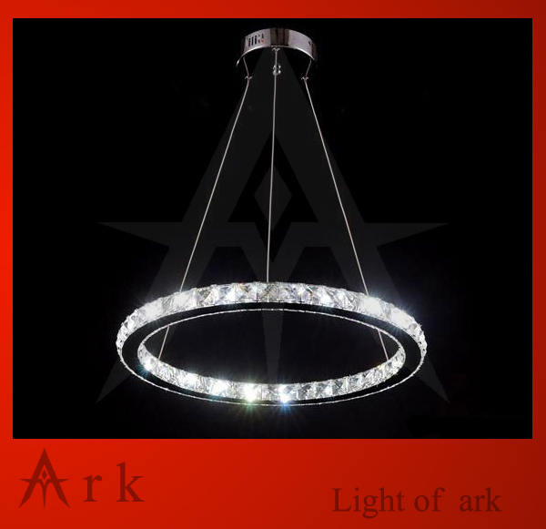 ark light Free shipping 500mm Crystal LED 24W Ring light Round lamp pendant light pendant lamp for living room /dinning room/bar ark light free shipping hot selling fashion metalarte josephine pendant lamp also for wholesale