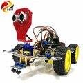 Новый Умный робот-робот с дистанционным управлением  набор для измерения скорости  кодер  батарейный блок  4WD Ультразвуковой модуль для Arduino
