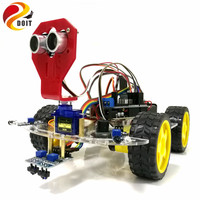 New WiFi Control Avoidance Tracking Smart Robot Car Chassis Kit Speed Encoder Battery Box 2WD Ultrasonic