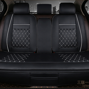 Image 4 - Waterproof Back Rear Car Seat Covers Universal PU Leather Cushion Protector Pad Mat Fit Most Car Accessories Interior