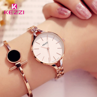KEZZI Luxury Brand Watches Women Waterproof Stainless Steel Quartz Watch Roman Scale Multi Cutting Surface Mirror