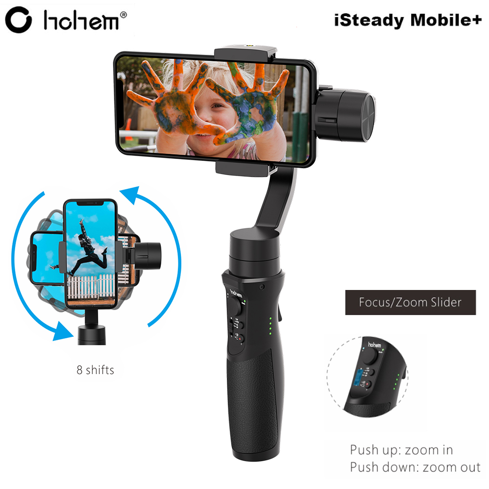 Hohem iSteady Mobile + Plus 3 Axes Poche Smartphone Stabilisateur de Cardan pour iPhone XS Max XR X 8plus 8 7 Android Huawei Samsung-in Cardan à tenir à la main from Electronique    1