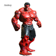 "Red Hulk Action Figure The Avengers Hulk PVC Figure Collectible Model Toy 10"" 26cm(China)"