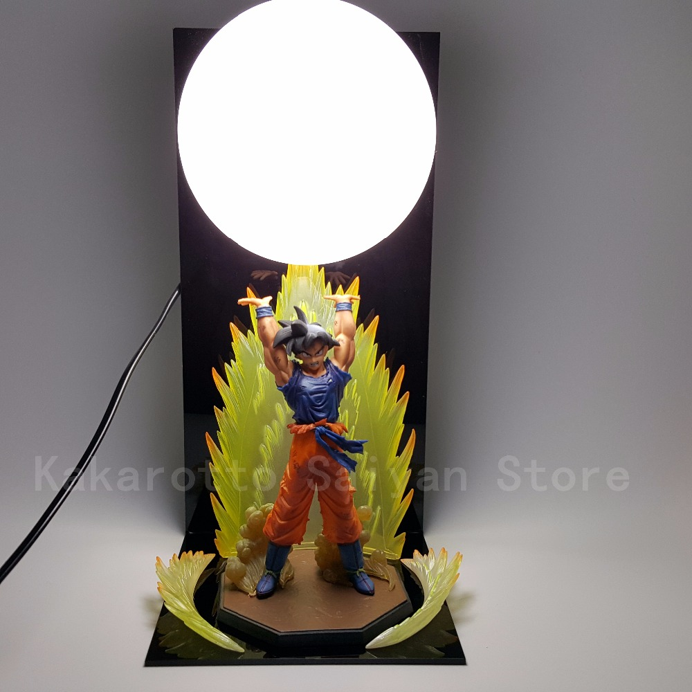 Dragon Ball Z Action Figures Leksaker Son Goku Genki damaSpirit Bomb DIY Anime Dragonball Esferas Del Dragon + Ball + Base