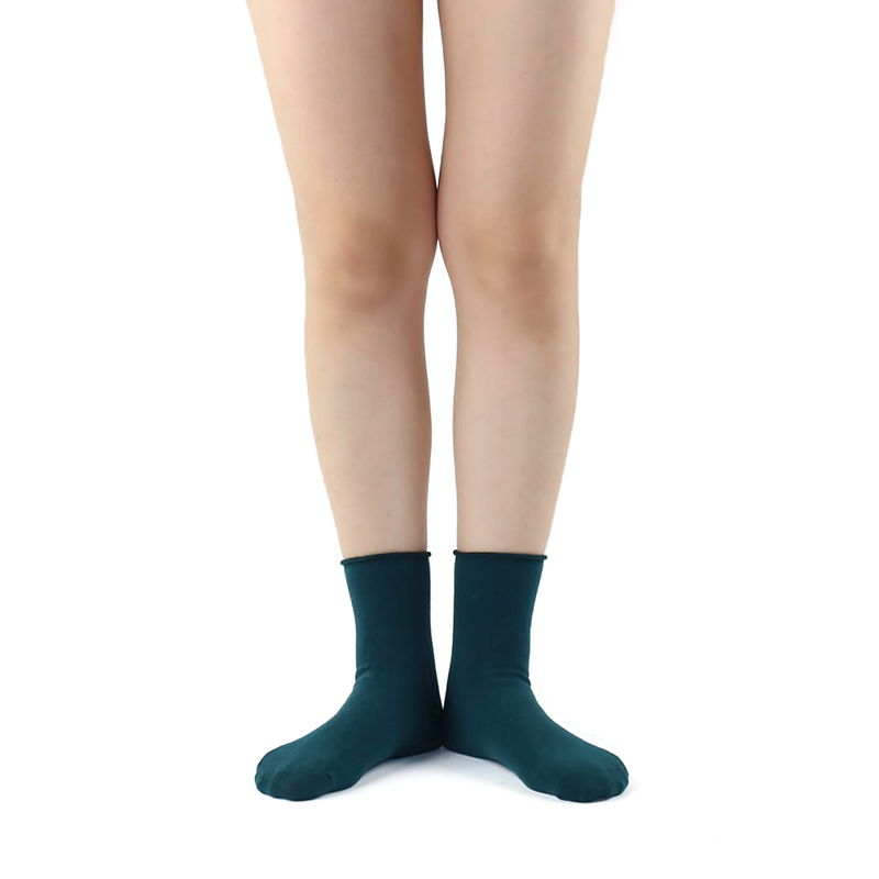 5 Paar / Lot Baumwolle Damen Socken Vintage Solid Spring Fall Mode - Unterwäsche - Foto 5
