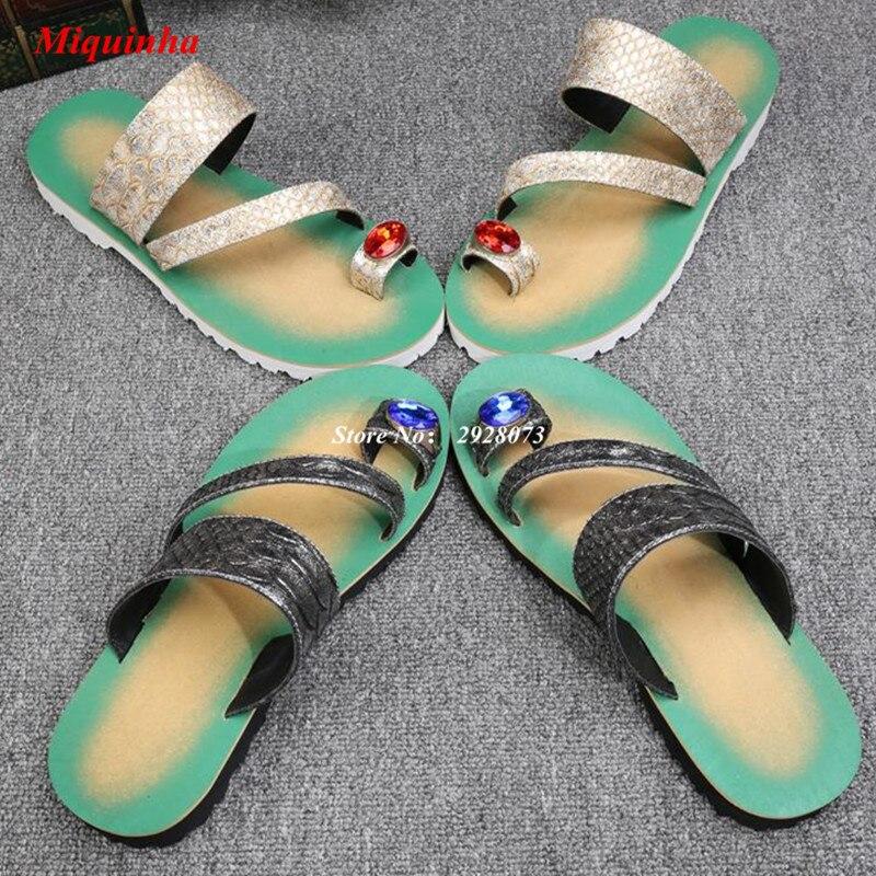 Gold Thong Flip Flops