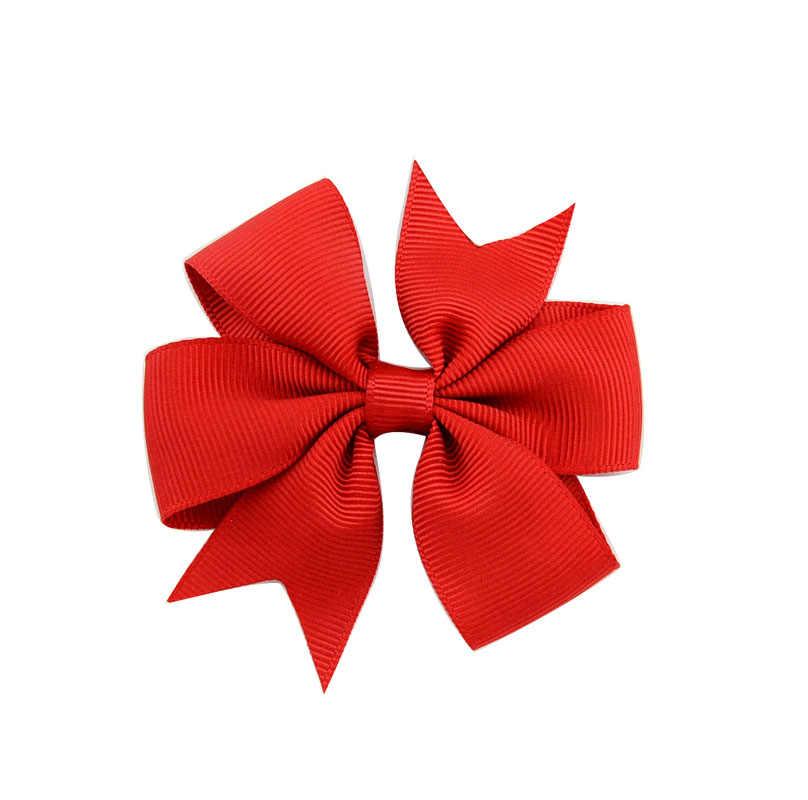 1 stücke Farben Solide Grosgrain-Band Beugt Clips Haarnadel Mädchen haar bögen Boutique Haar Clip Headware Kinder Haar Zubehör 564