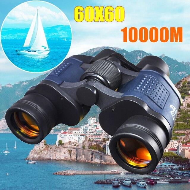 높은 전력 HD 10000M 60X60 쌍안경 망원경 광학 고정 줌 높은 선명도 Lll 나이트 비전 야외 사냥을위한 쌍안경
