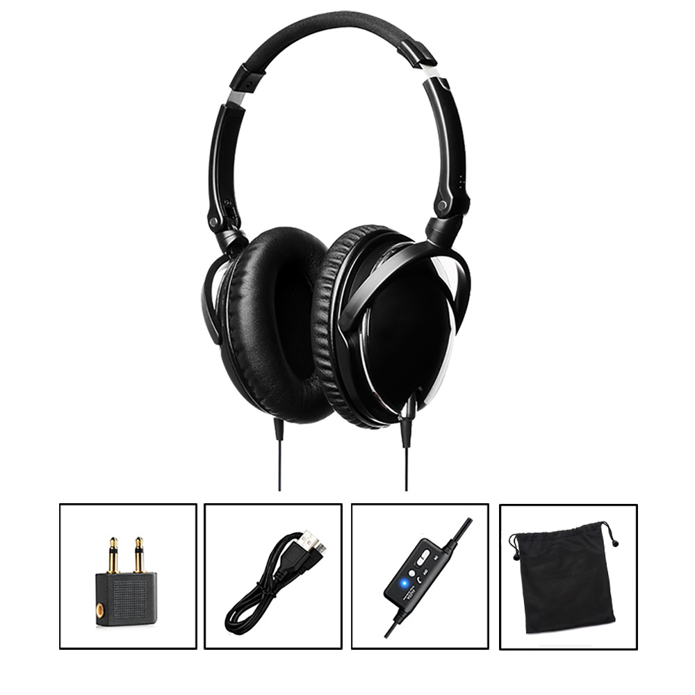 OKCSC Active Noise Cancelling Headphones With Mic for a mobile phone Supper Bass Folding and Light weight Travel Headset insermore active noise cancelling headphones wired bass stereo surround headset with mic flight headband for iphone xiaomi iq 3