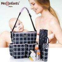 Mesenfants/Новинка 2019 года, 3 шт./комплект, многофункциональная большая емкость, сумка для подгузников, женская сумочка для мам, детская коляска