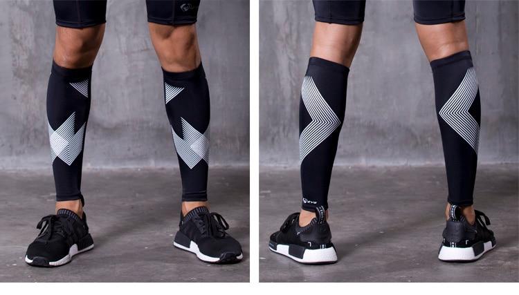 új Non-Stirrup kompressziós tréning lábbeli ujjú borjú - Sportruházat és sportolási kiegészítők - Fénykép 5