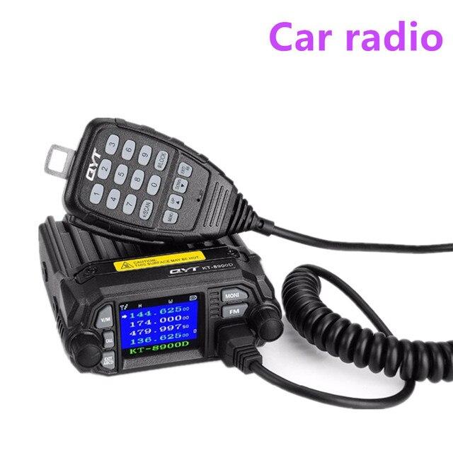 100% オリジナル QYT KT 8900D デュアルバンドクワッド車車ラジオ 136 174/400 480 移動無線トランシーバ車両ミュート