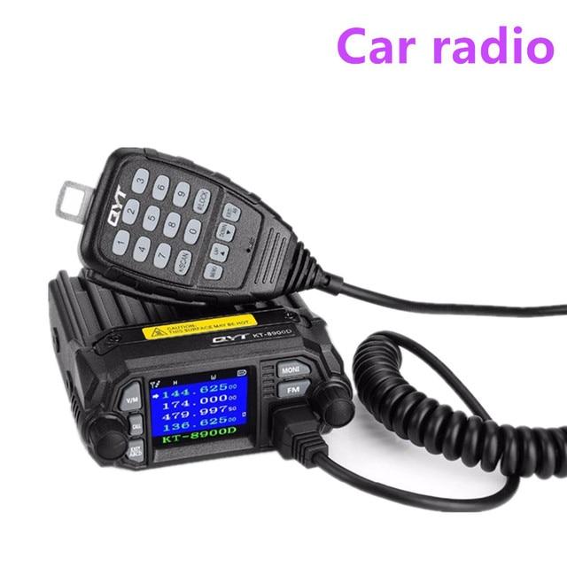 QYT Radio 100% Quad para coche, Original, KT 8900D, banda Dual, 136 174/400 480MHz, transceptor de Radio móvil, vehículo silenciado